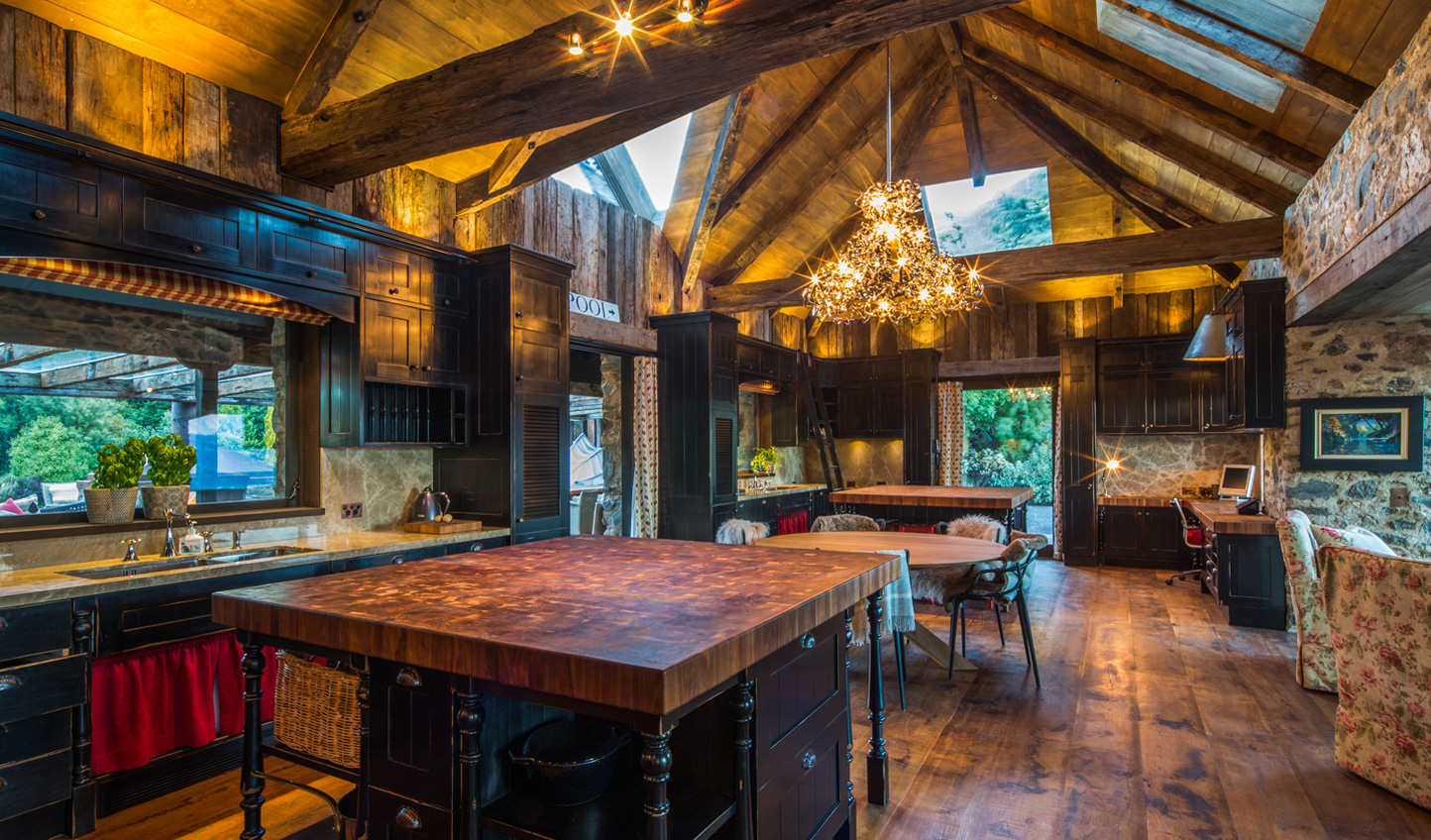 A rustic farmhouse kitchen perfect for cooking on cosy nights in