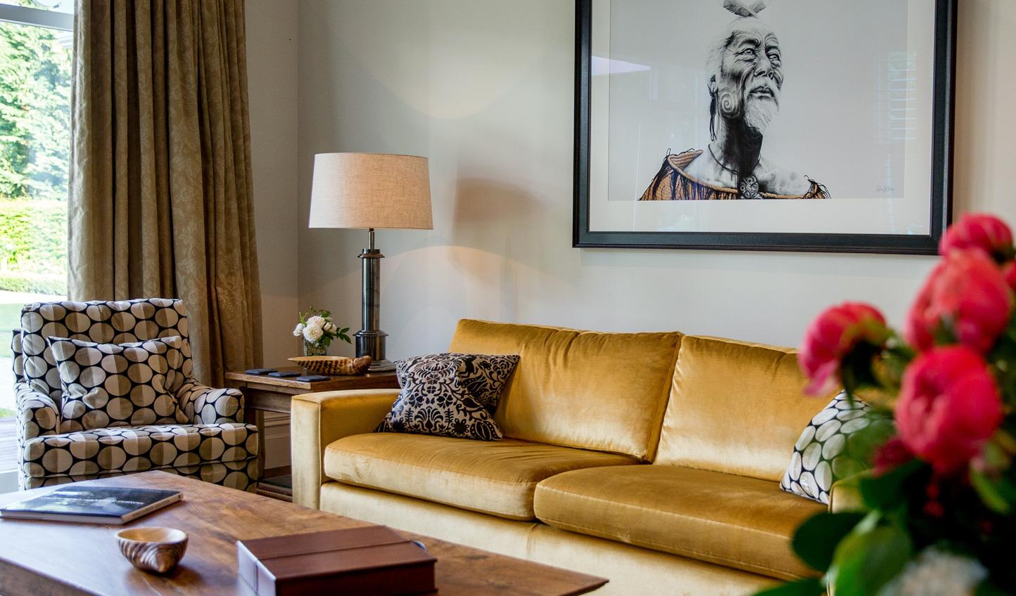 Chic and elegant decor at Marlborough Lodge