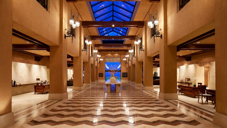 Entrance lobby to Kempinski Hotel, Dead Sea