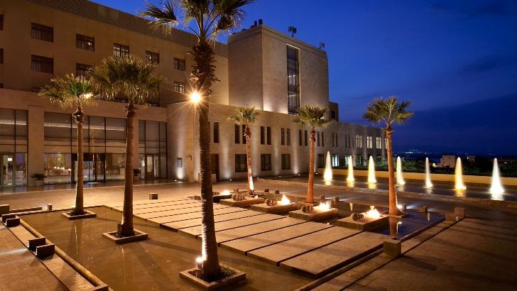 Kempinski Hotel entrance, Jordan