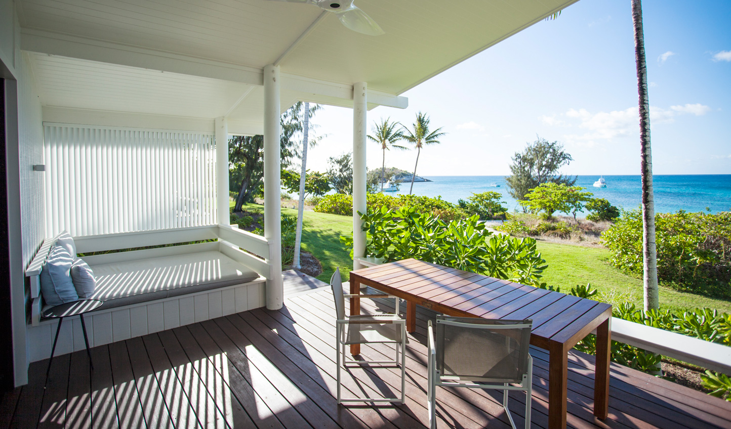 Relax out on your beachfront deck