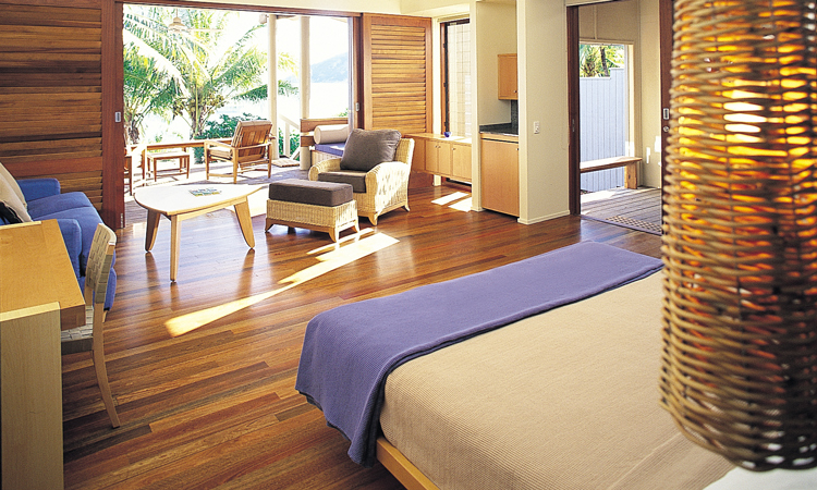 Hard wood floors in an Anchorbay suite