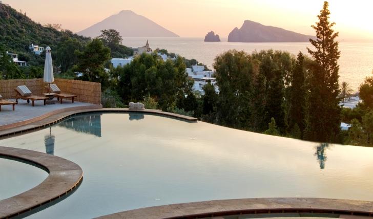 Incredible views from the pool at hotel raya, italy