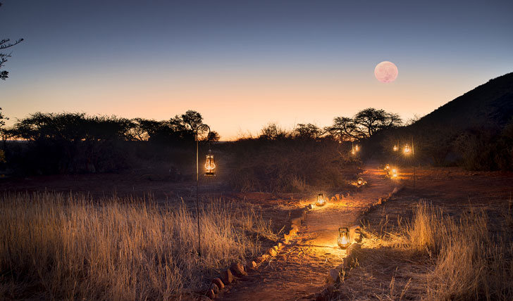 Luxury hotel walk at Tarkuni in Tswalu, South Africa