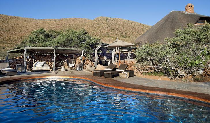 Luxury hotel pool at Tarkuni in Tswalu, South Africa