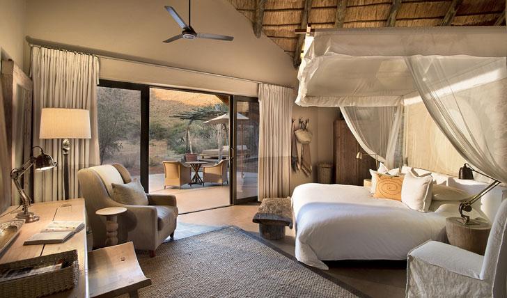 Luxury hotel suite at Tarkuni in Tswalu, South Africa