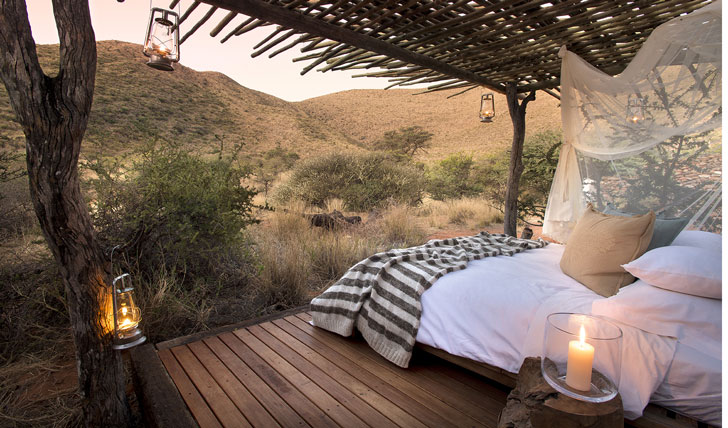Luxury hotel porch at Tarkuni in Tswalu, South Africa