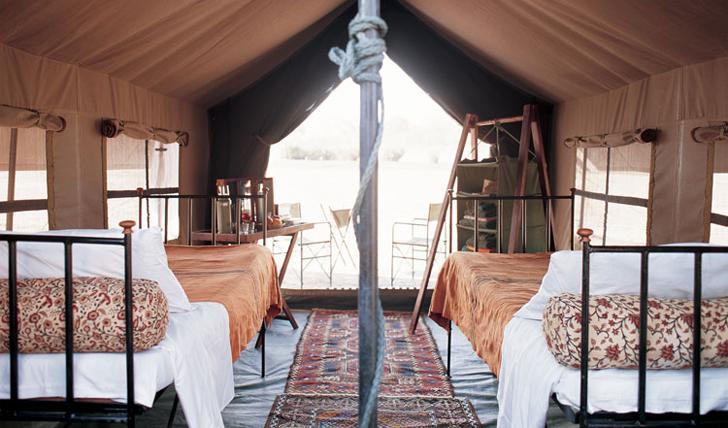mobile tent interior