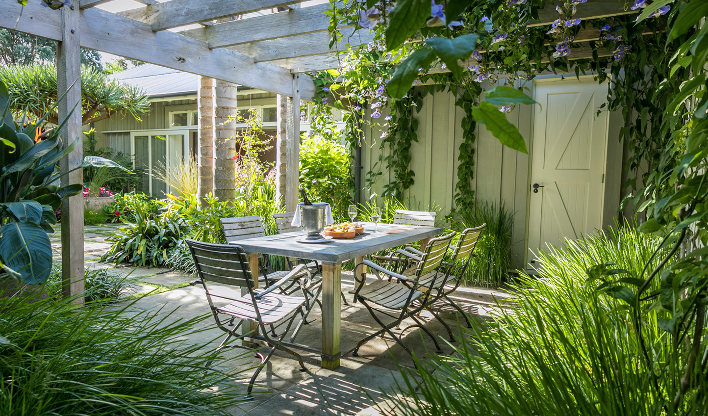 Swap the porch for the Owner's Cottage garden and while the afternoons away