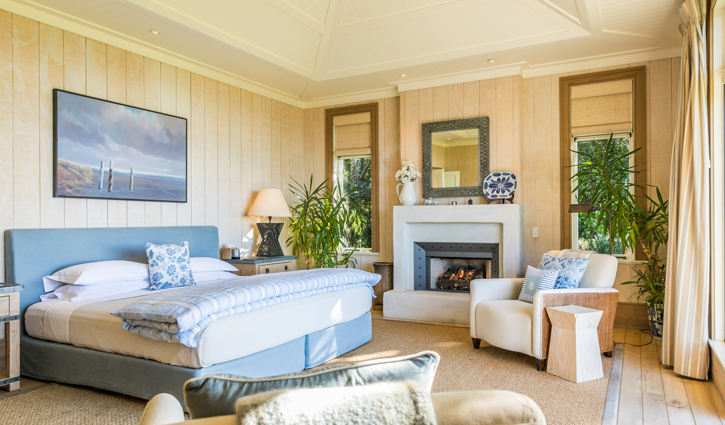 The Owner's Cottage master bedroom will taper your troubles