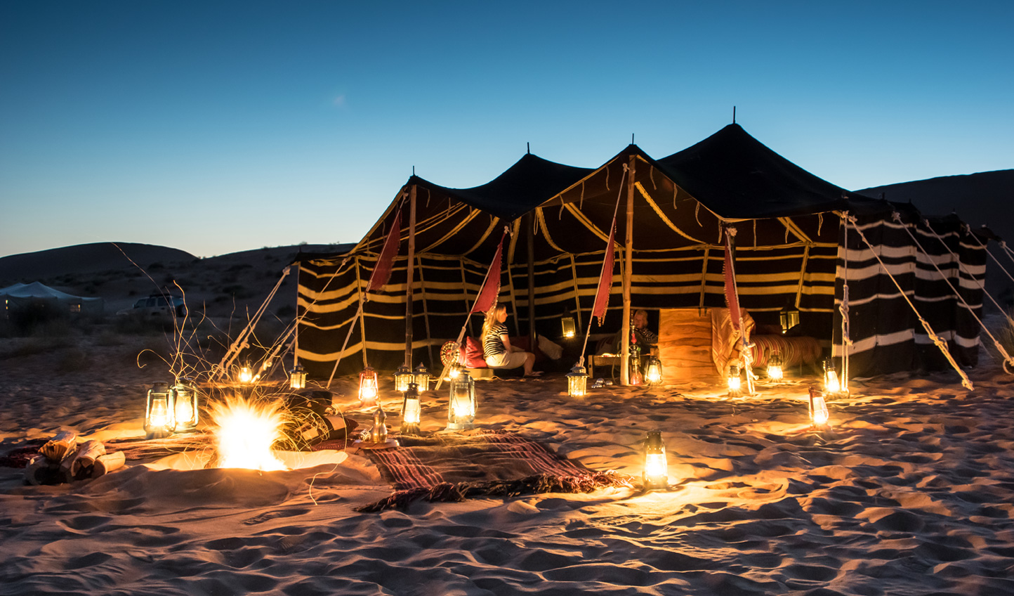 Travel deep into the desert for an overnight camping sojourn like no other