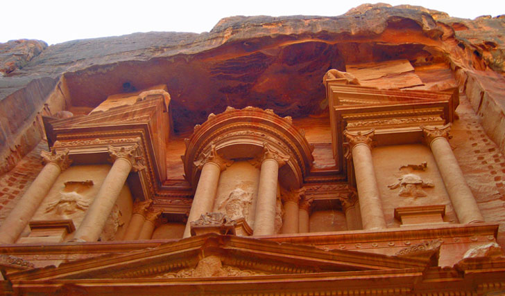 The Petra wall