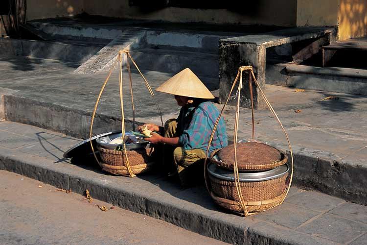 Vietnamese street trader