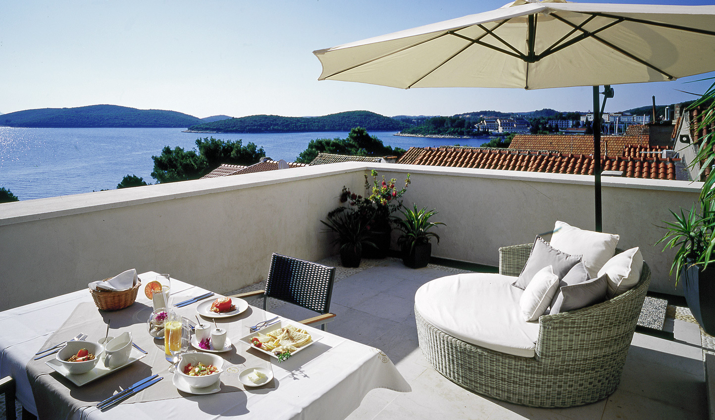 Bask in the sunshine out on your private terrace