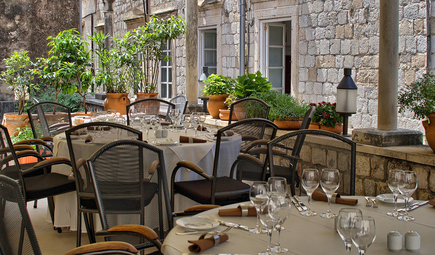 Enjoy al fresco dining at La Capella