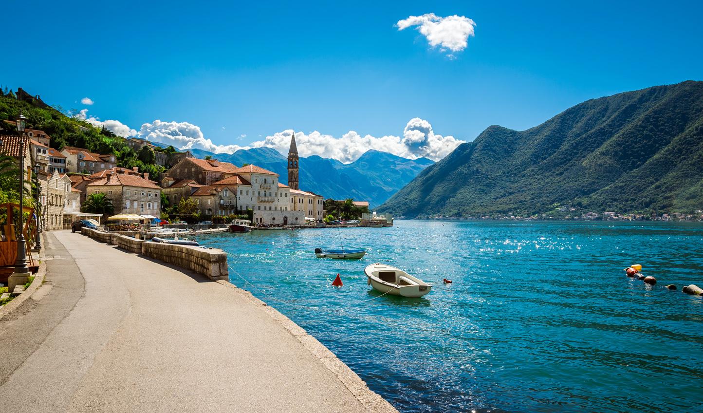 Cruise through Boka Bay across the border in Montenegro