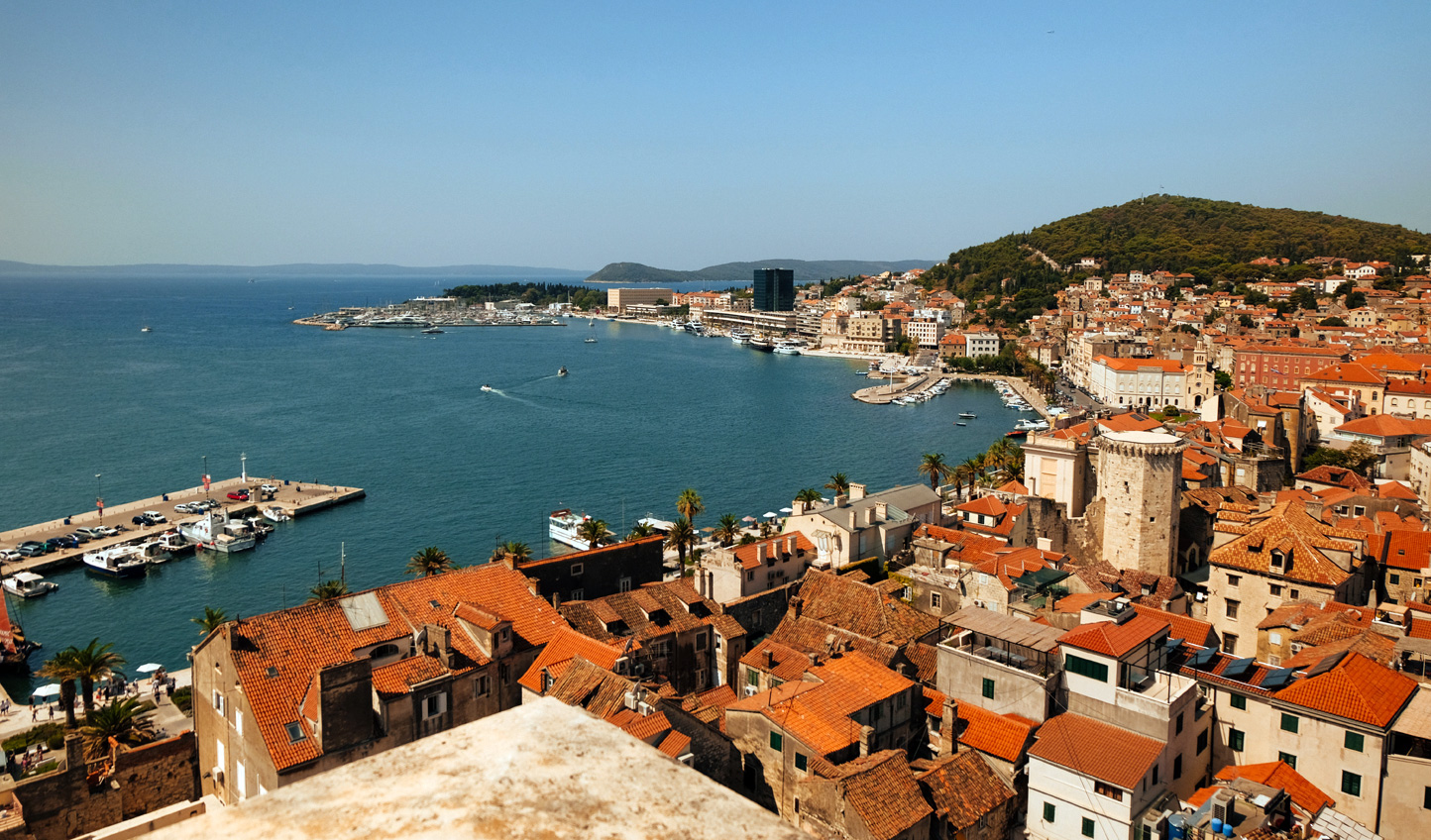 Soak up views over Split and the Adriatic