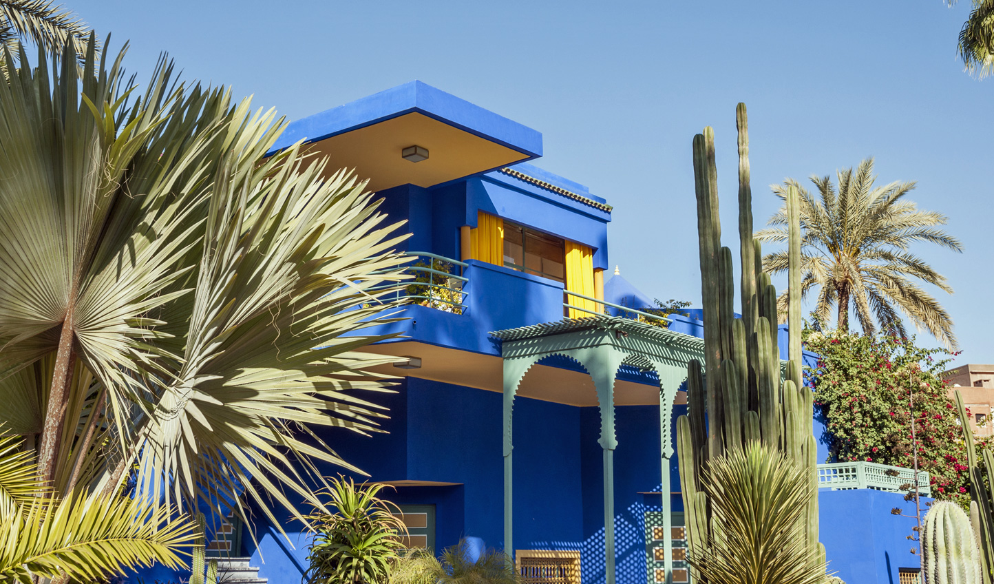 Then, make a beeline for Le Jardin Majorelle in Marrakech to see just where YSL found his inspiration