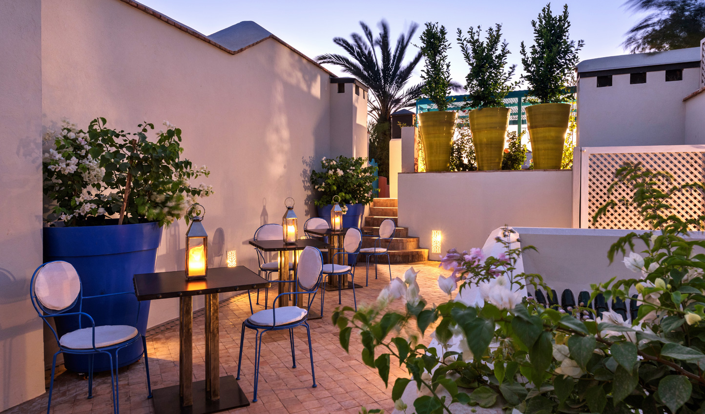 Relax up on the rooftop terrace of Riad Farnatchi