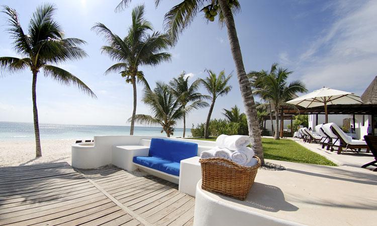 sun-soaked terrace