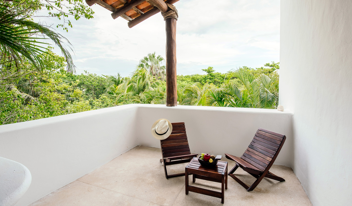 Relax out on your private terrace and listen to the sounds of the jungle