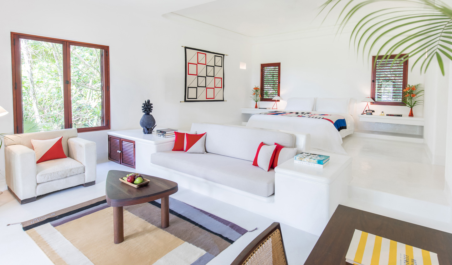 Spacious suites open up onto the natural beauty of Riviera Maya