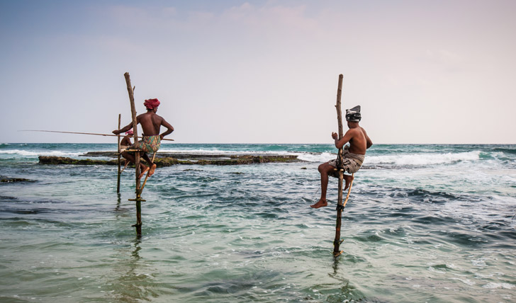 Local fishermen in Ahangama