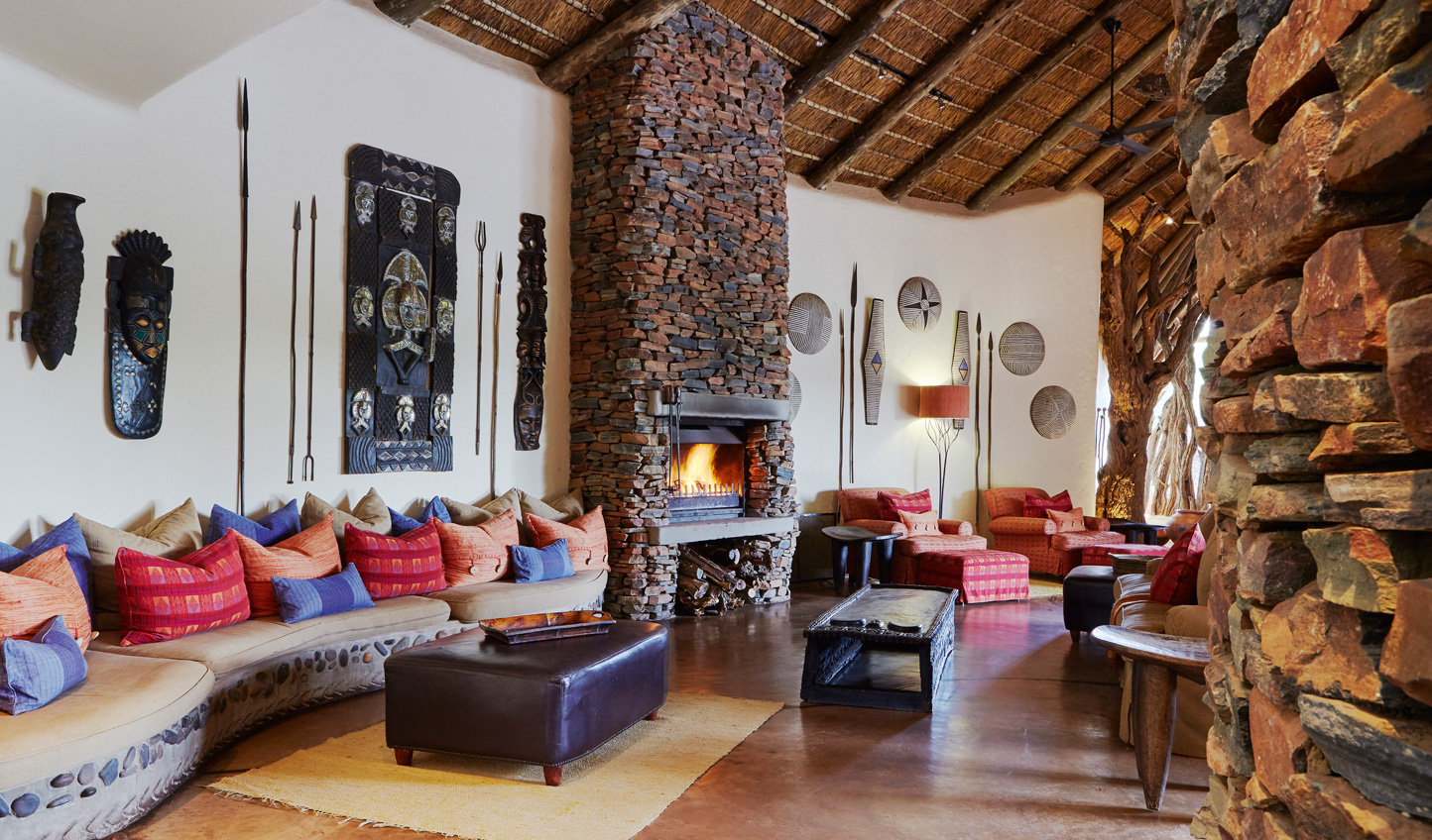 Relax in the main lodge before heading out on an evening game drive