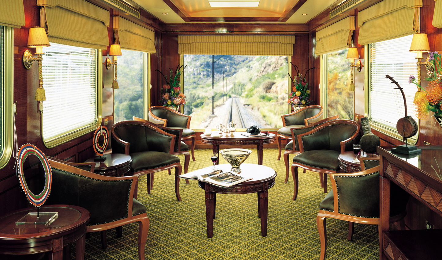 Sit back and watch the scenery roll by in the Observation Car