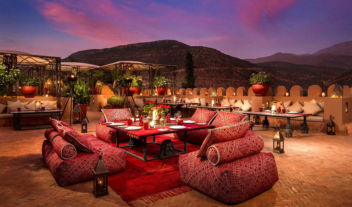 Relax beneath the stars as you enjoy an aperitif in the evening