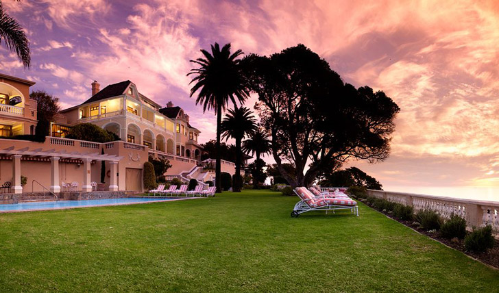 Bask in the sunset in the gardens at Ellerman House