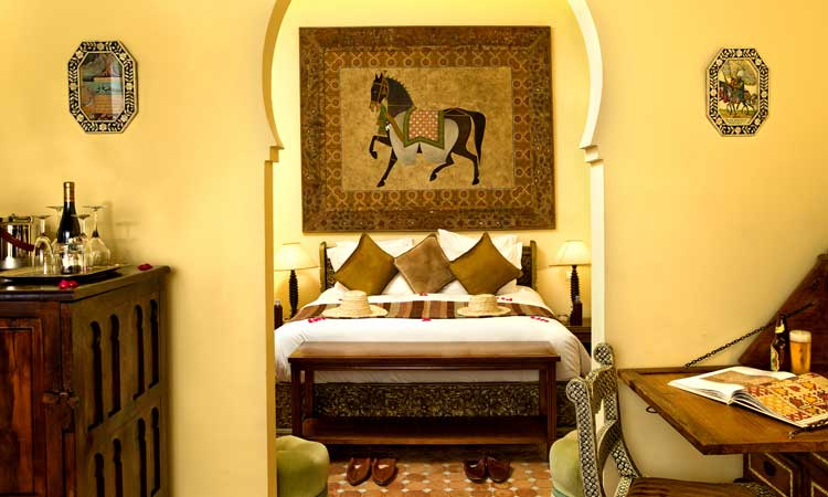 one of the rooms at kasbah tamadot