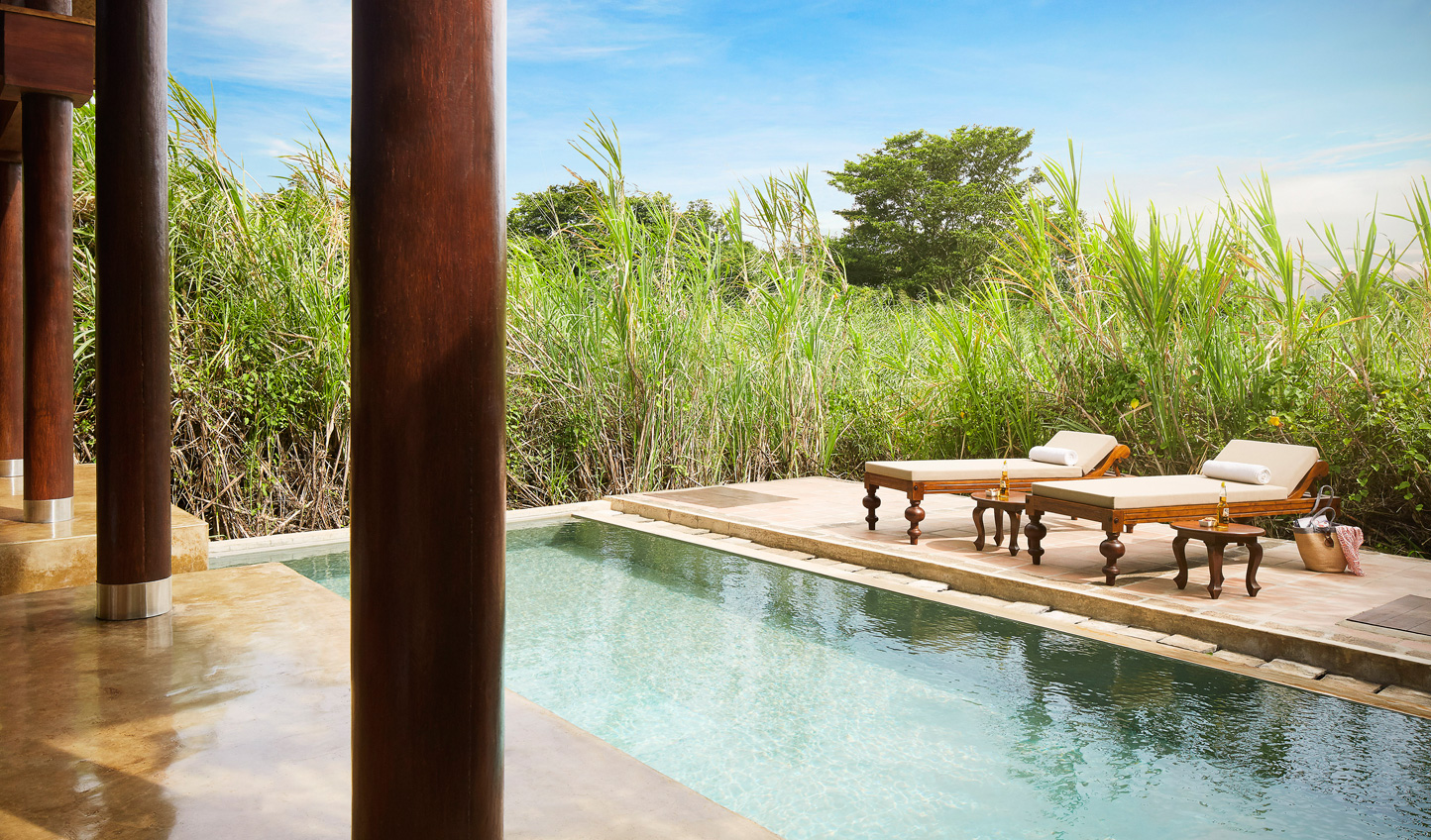 Peaceful relaxation by your private plunge pool