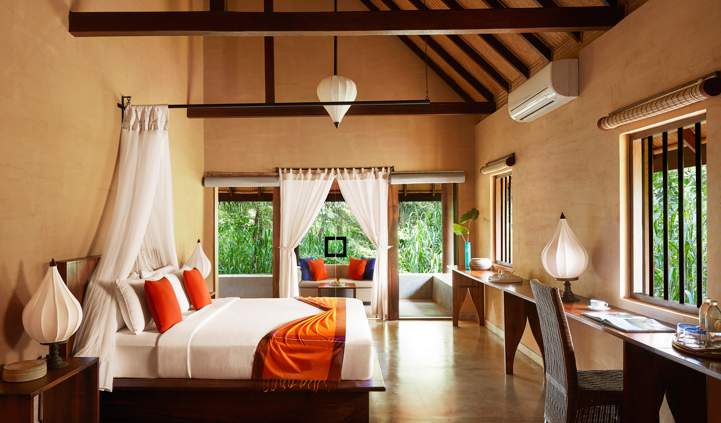 Traditional Sri Lankan design with bursts of colour in your villa