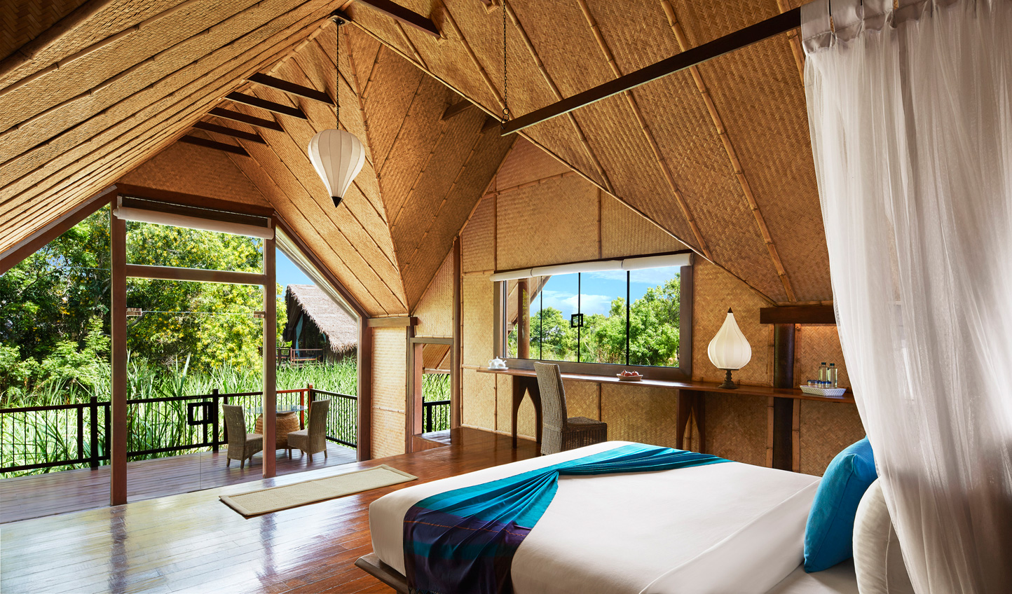 Wake up to peaceful views of the paddy fields