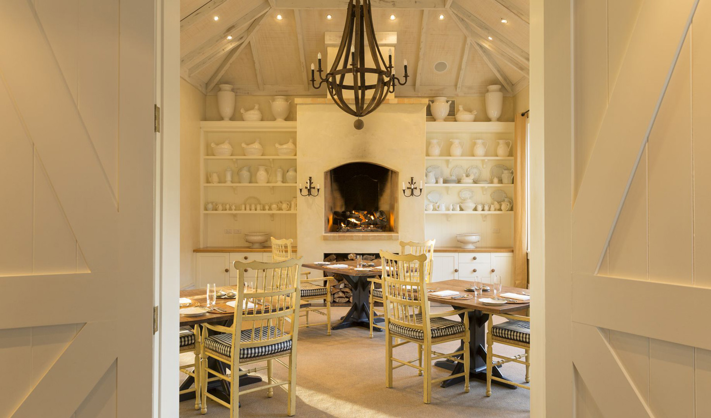Cosy, intimate dining at the main lodge