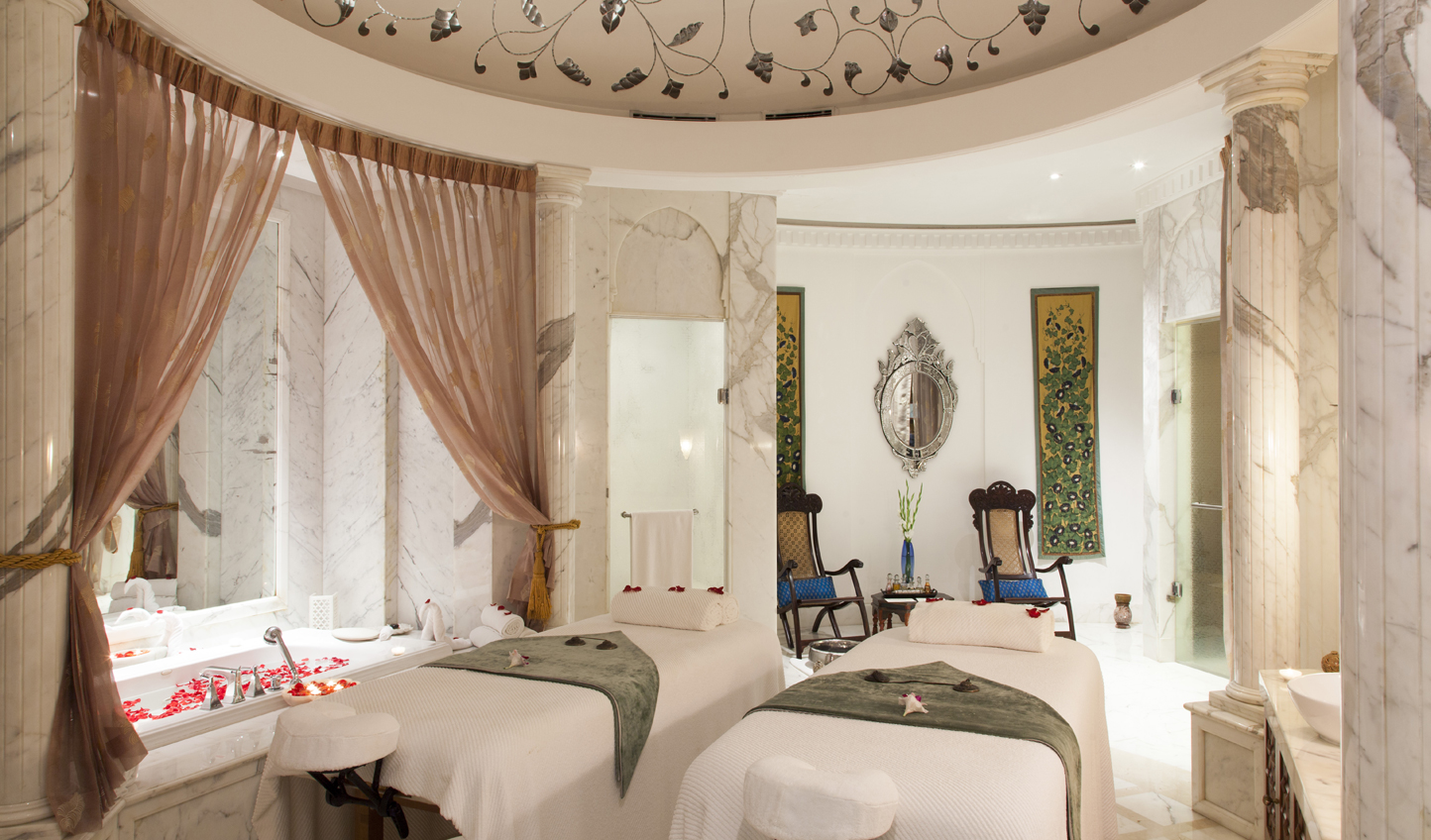 Rejuvenate in the spa after a day in the hustle and bustle of New Delhi
