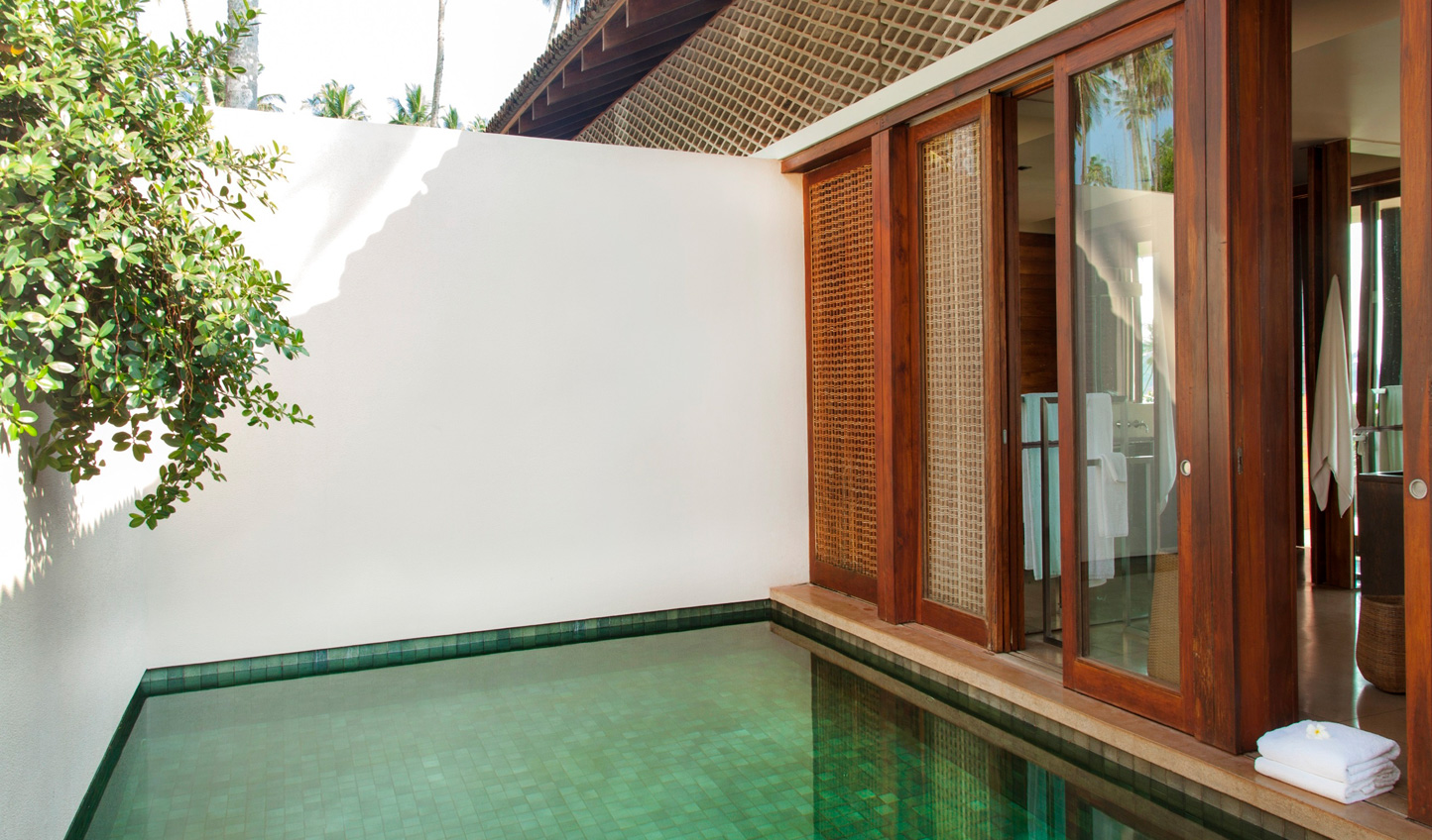 Relax in your private plunge pool