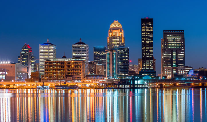 Louisville's colourful skyline