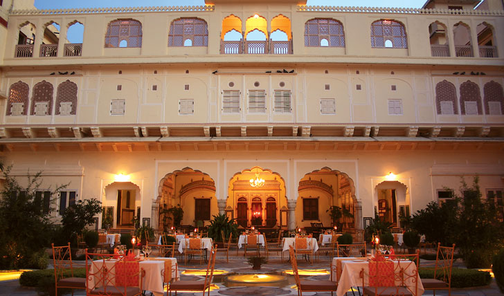 Luxury holiday at the Samode Haveli, India