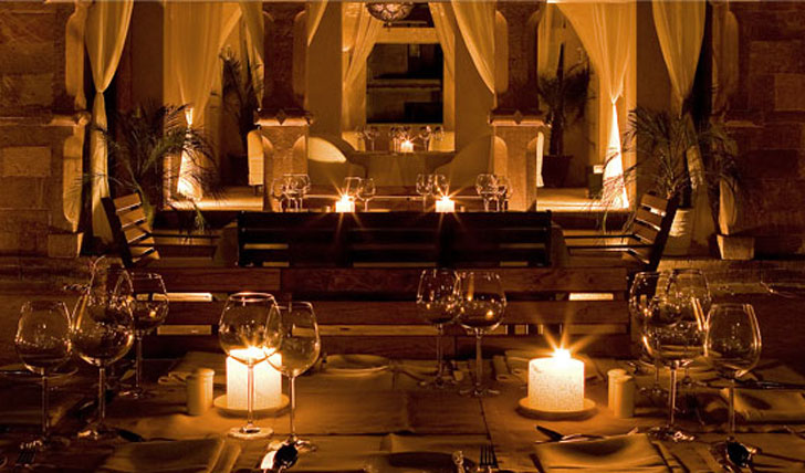 Dine by candlelight