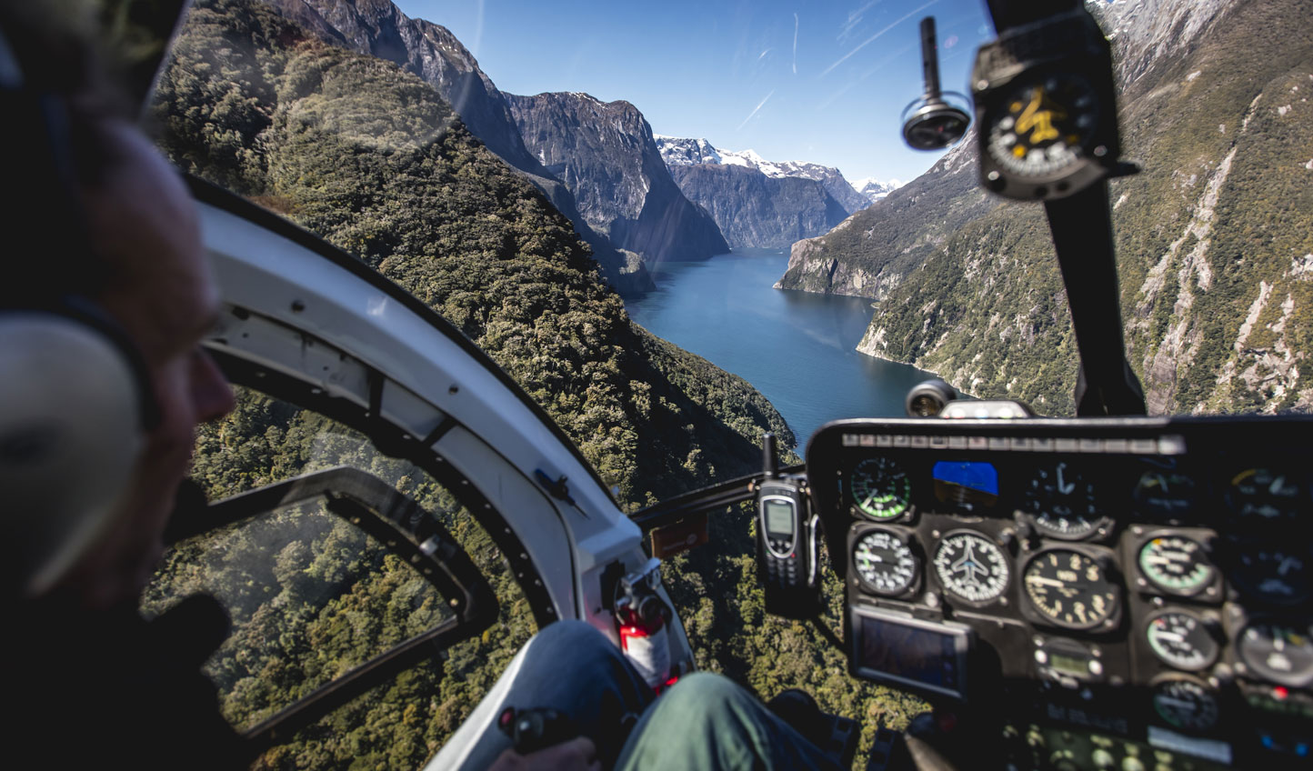 Aerial Milford Sound Views - Image by Miles Holden