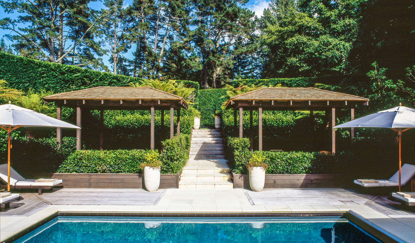 Kick back by the pool at Huka Lodge