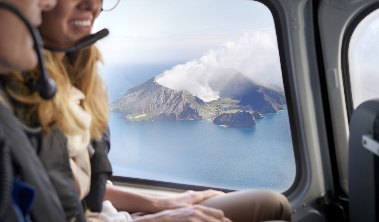 Soar above billowing volcanoes on this one-of-a-kind holiday