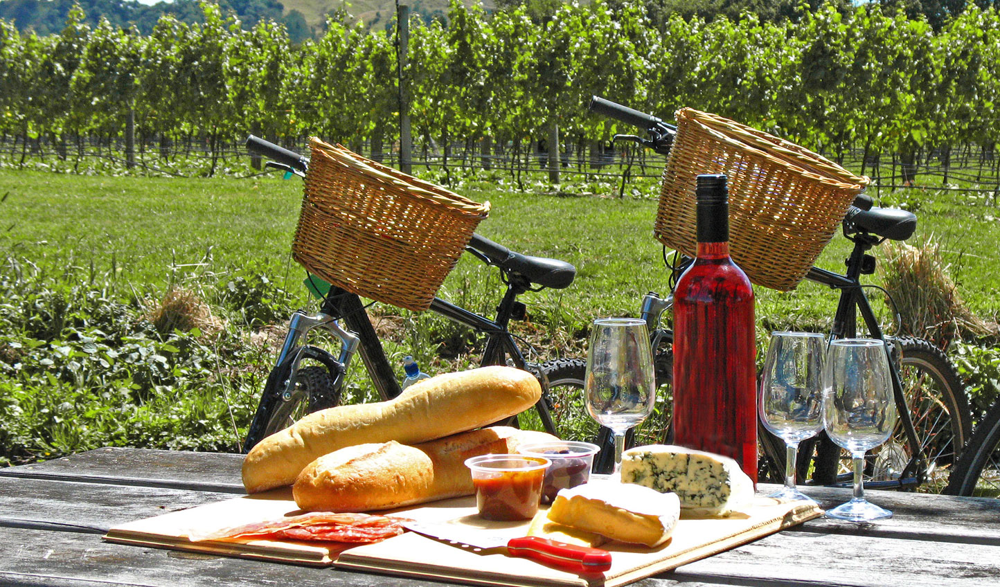 Gourmet picnics and wine tasting on two wheels in Hawkes Bay