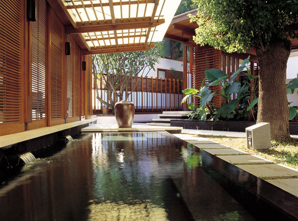 sit back and relax in the hot spring pool