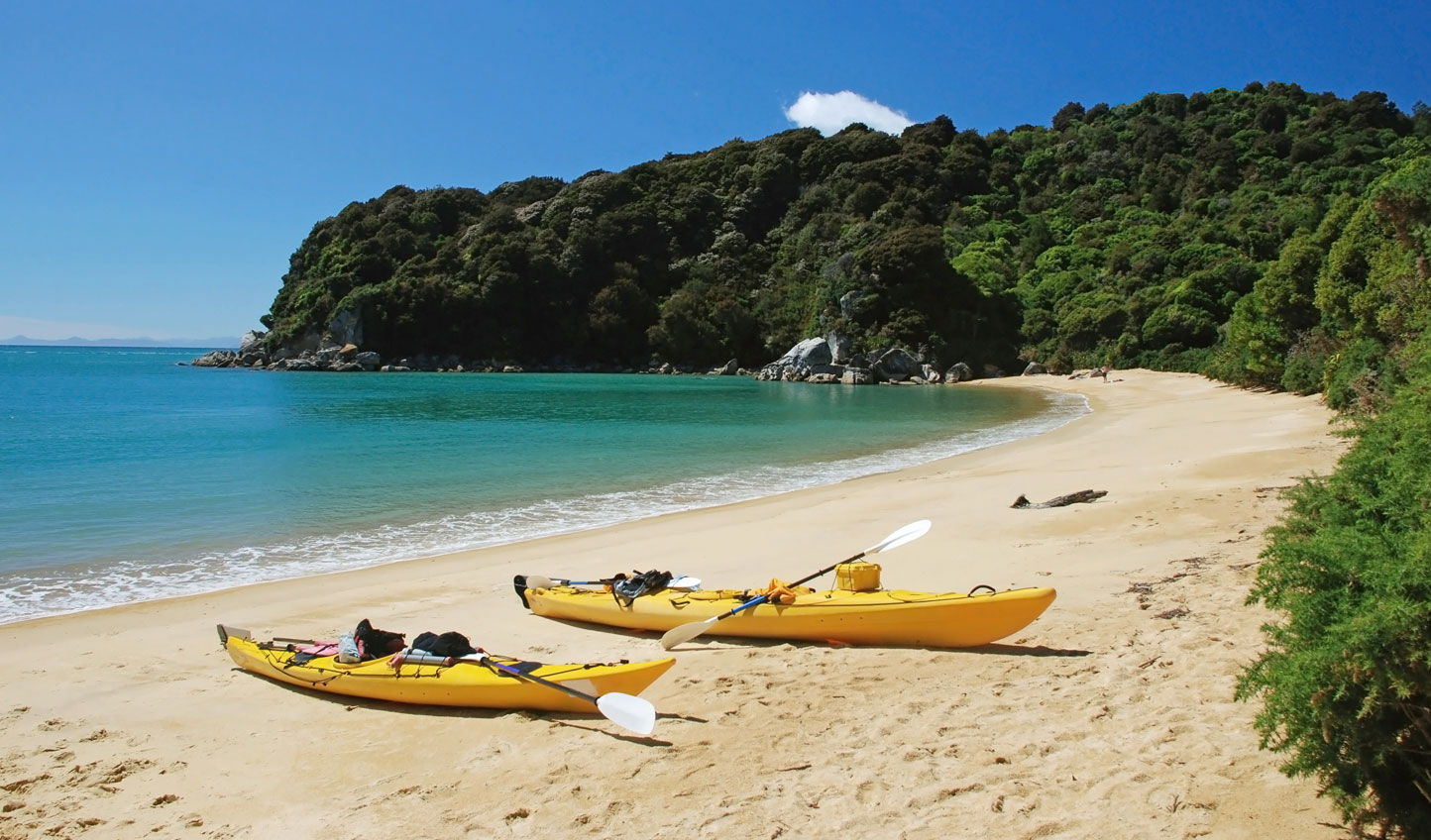 Take to the waters in kayaks and stumble upon hidden beaches and bays
