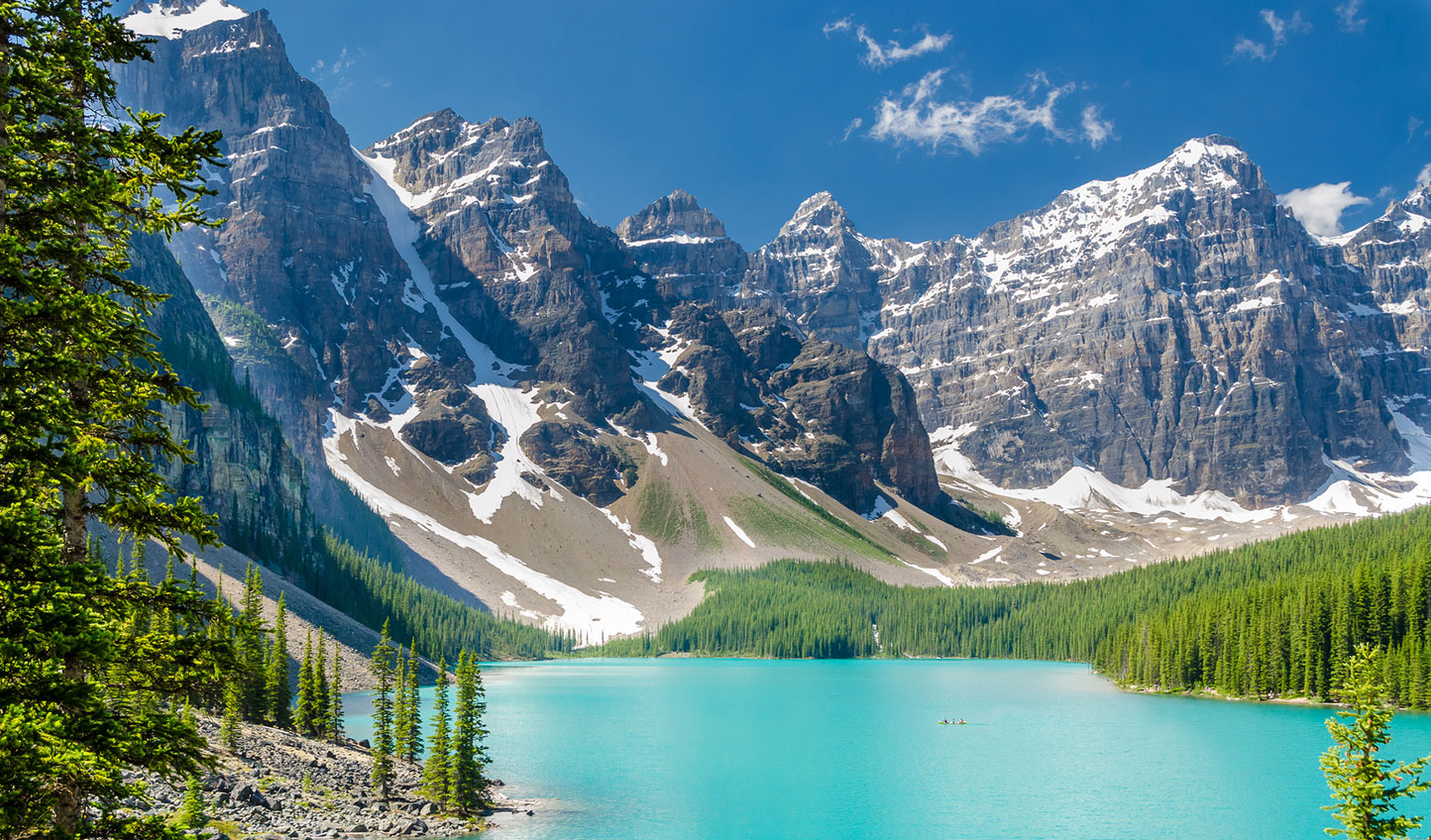 Find yourself confronted by majestic mountain scenes