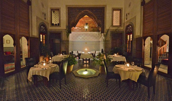 Restaurant, Dar Roumana, Morocco