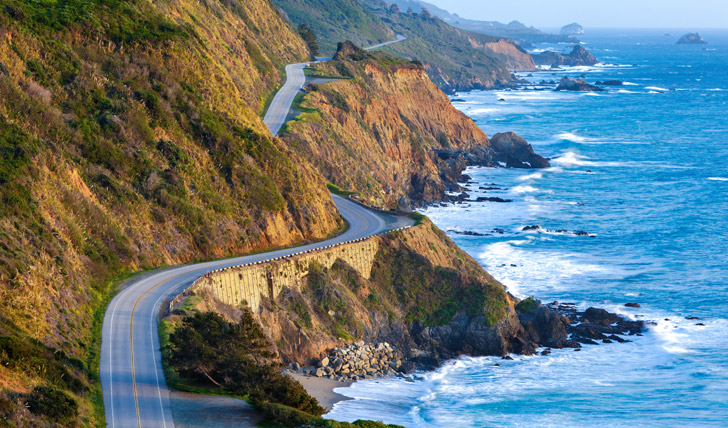 Cruise along the Pacific Coast Highway